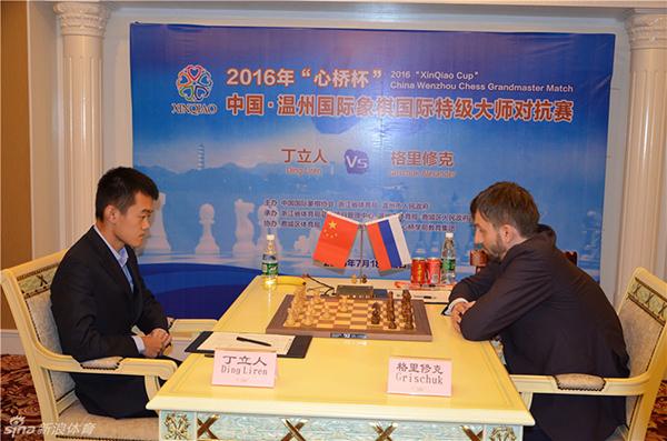 В Вэньчжоу стартовал матч между Александром Грищуком и Дин Лижэнем