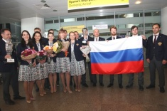 Russian National Teams Triumphantly Arrived in Moscow From Khanty-Mansiysk