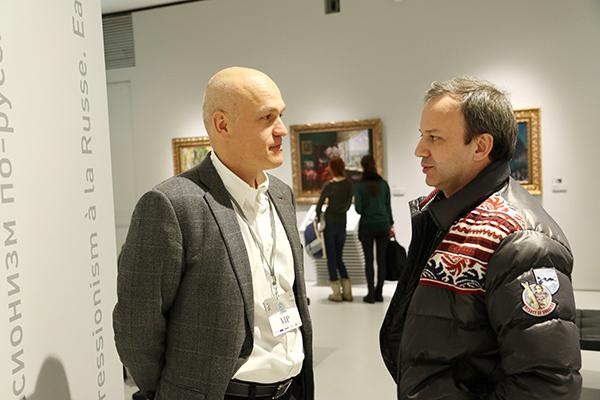 Президент ФШР Андрей Филатов и кандидат в президенты Ф�ДЕ Аркадий Дворкович (фото Э. Кублашвили)