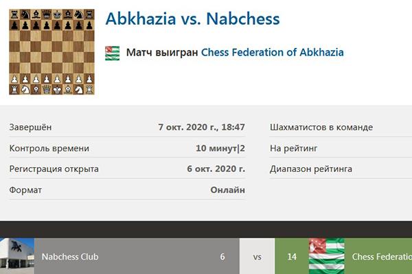 Шахматисты Набережных Челнов и Абхазии провели третий товарищеский матч