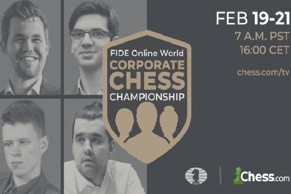 Стартовал первый корпоративный онлайн-чемпионат мира ФИДЕ