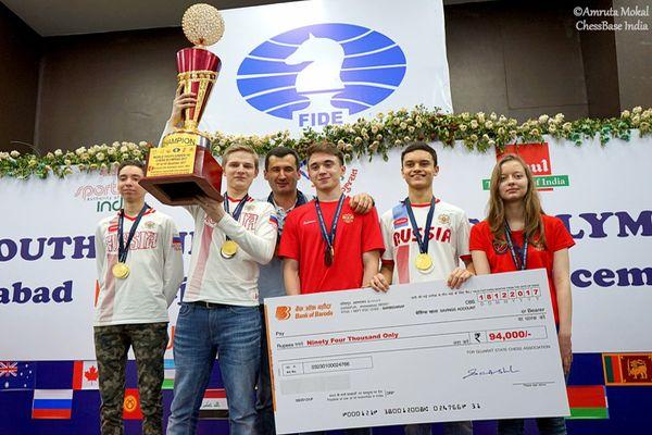 Юношеская сборная России победила на Олимпиаде до 16 лет