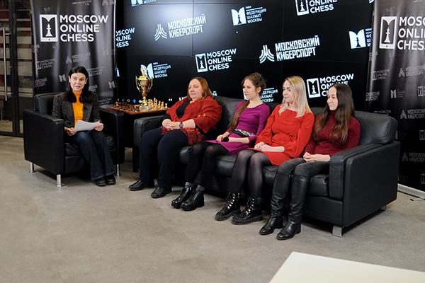Шахматистки сборной Москвы стали гостями студии Moscow Online Chess