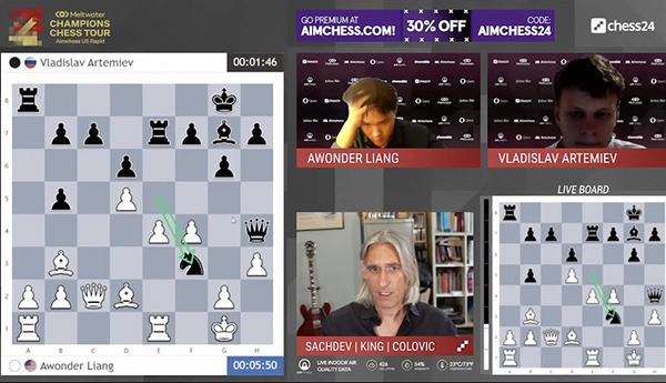 Владислав Артемьев выиграл отборочный турнир Aimchess US Rapid