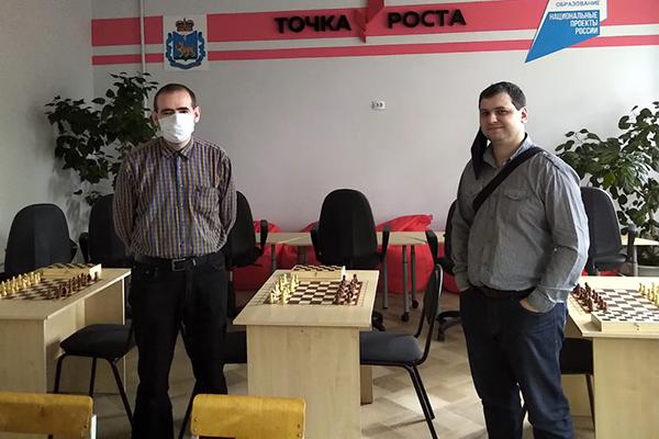 """""""Точки роста"""" в Псковской области посетили руководители региональной Федерации шахмат"""