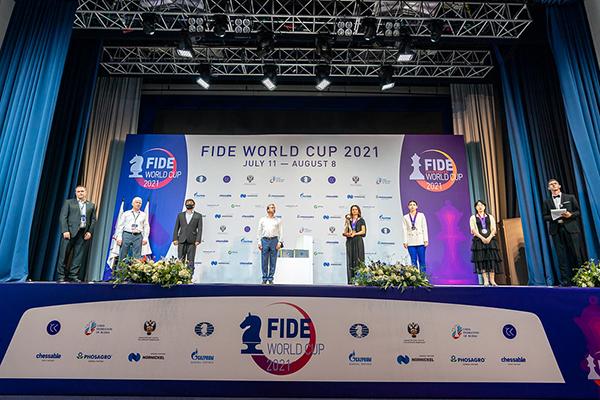 Призеры Кубка мира ФИДЕ среди женщин награждены в Сочи